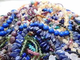 5315[K]天然石 マルチカラーストーン/トルマリン/ラピスラズリ/ブラックダイヤモンド他/925 SILVER刻印/アクセ ネックレス ブレス他約3.1㎏
