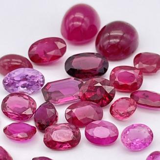 ◆天然ピンクサファイア   ◆ルース 裸 石    jewelry ジュエリー ◆おまとめ25.0ct!!!