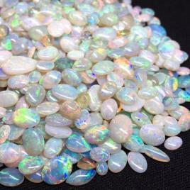 大量!300ct!![天然オパールおまとめ]ルース 裸石 宝石 ホワイト white opal 遊色 ファイヤー jewelry ジュエリー