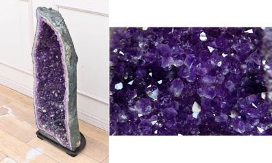 IM14 大型 アメジスト ドーム 紫水晶 原石 結晶石 オブジェ 置物 幸運 パワーストーン