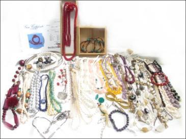 ★大量アクセサリー 本珊瑚 琥珀 真珠 色石 ネックレス レディース 約1.6kg以上 272