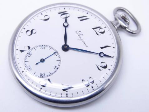 ロンジン 懐中時計 ブルーサファイア/ダイヤモンド受石 エクストラポジション 19ー569