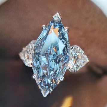 本物の輝き人気 ランキング 第一位 ◆ 3石 レディース ダイヤモンド サファイア リング 4ct 指輪 【プラチナ仕上】ギフト 記念日
