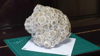 霰石(あられいし) 島根県 松代鉱山産 天然記念物 アラゴナイト